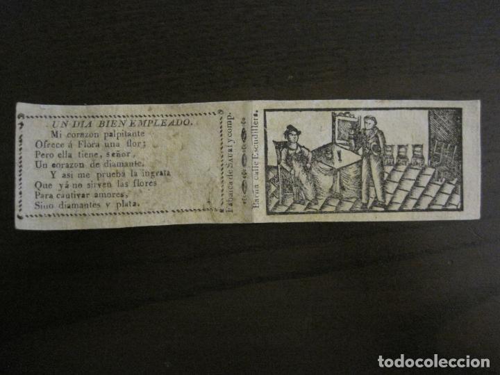 ENVOLTORIO PAPEL DE FUMAR SAURI Y COMP-SIGLO XIX-BARCELONA-VER FOTOS-(V-16.143) (Sammelleidenschaft Objekte - Objekte zum Rauchen - Zigarettenpapiere)