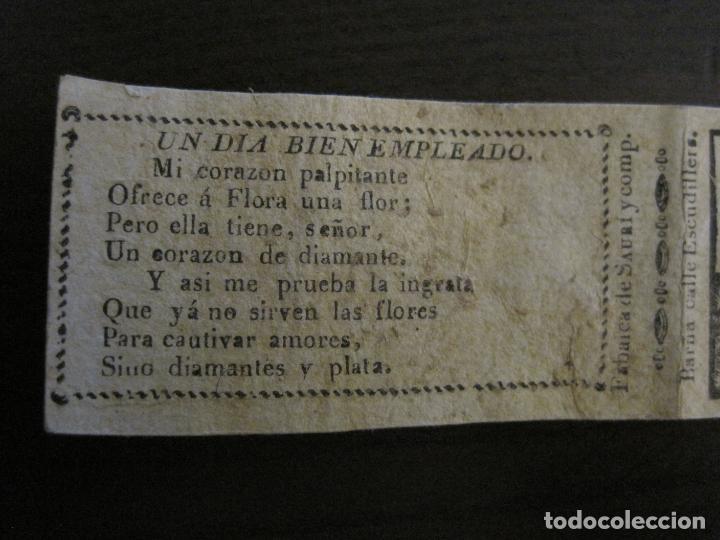 Zigarettenpapiere: ENVOLTORIO PAPEL DE FUMAR SAURI Y COMP-SIGLO XIX-BARCELONA-VER FOTOS-(V-16.143) - Foto 2 - 155673954