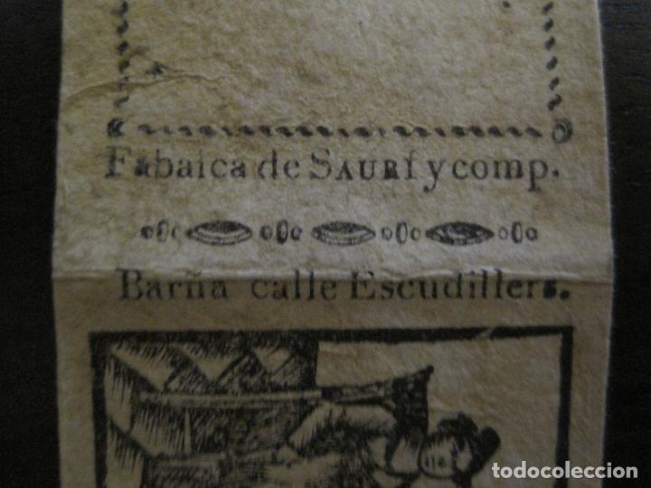 Zigarettenpapiere: ENVOLTORIO PAPEL DE FUMAR SAURI Y COMP-SIGLO XIX-BARCELONA-VER FOTOS-(V-16.143) - Foto 4 - 155673954