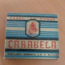 Papel de fumar: ANTIGUO LIBRILLO PAPEL DE FUMAR CARABELA. Lote 155829214
