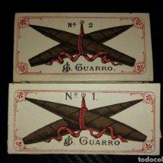 Papel de fumar: 2 LIBRITOS PAPEL DE FUMAR GUARRO N°1 Y N°2. Lote 157523946