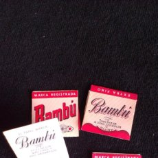 Papel de fumar: LOTE 4 ESTUCHES DE PAPEL DE FUMAR BAMBÚ - ALCOY. Lote 161505074