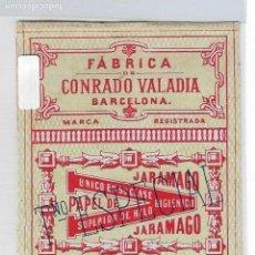 Papel de fumar: ENVOLTORIO PAPEL DE FUMAR - JARAMAGO - CONRADO VALADIA - TAMAÑO ESPECIAL - P29026. Lote 161814362