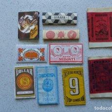 Papel de fumar: DIEZ ANTIGUOS LIBRITOS DE PAPEL DE FUMAR. Lote 161916730