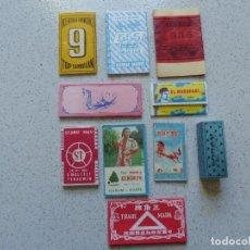 Papel de fumar: DIEZ ANTIGUOS LIBRITOS DE PAPEL DE FUMAR. Lote 161916806
