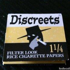 Papel de fumar: PAPEL DE FUMAR DISCREETS. Lote 163151393