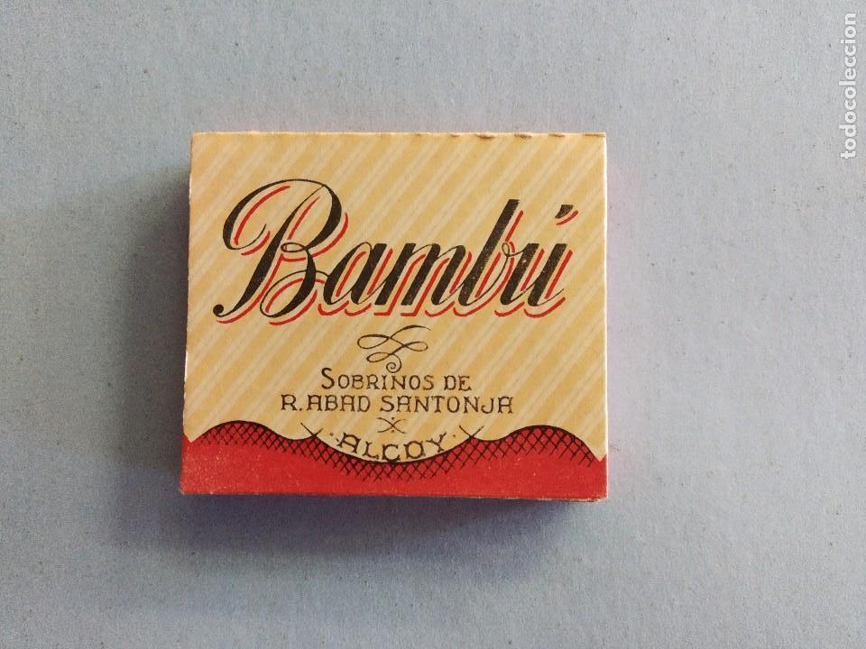 LIBRILLO PAPEL FUMAR BAMBÚ - ALCOY (Coleccionismo - Objetos para Fumar - Papel de fumar )