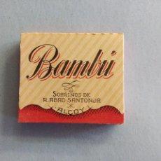 Papel de fumar: LIBRILLO PAPEL FUMAR BAMBÚ - ALCOY. Lote 163354002