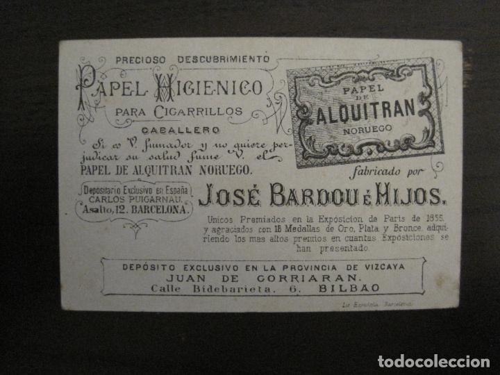 PAPEL ALQUITRAN NORUEGO CIGARRILLOS-JOSE BARDOU-CROMO ANTIGUO PAPEL DE FUMAR-VER FOTOS-(59.248) (Coleccionismo - Objetos para Fumar - Papel de fumar )
