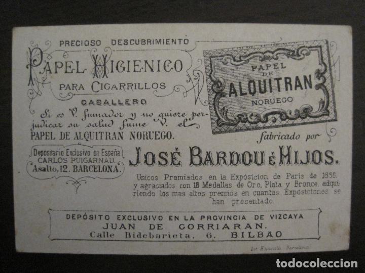 Papel de fumar: PAPEL ALQUITRAN NORUEGO CIGARRILLOS-JOSE BARDOU-CROMO ANTIGUO PAPEL DE FUMAR-VER FOTOS-(59.248) - Foto 2 - 163389938