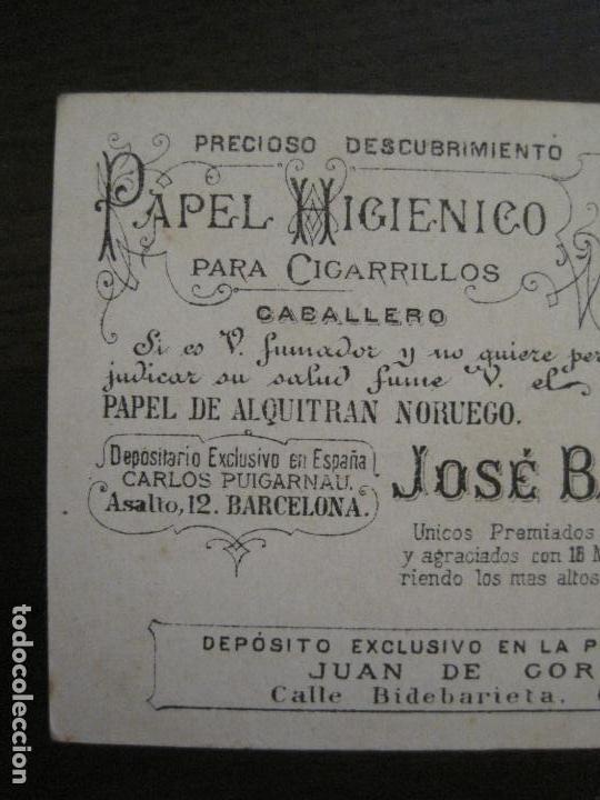 Papel de fumar: PAPEL ALQUITRAN NORUEGO CIGARRILLOS-JOSE BARDOU-CROMO ANTIGUO PAPEL DE FUMAR-VER FOTOS-(59.248) - Foto 3 - 163389938