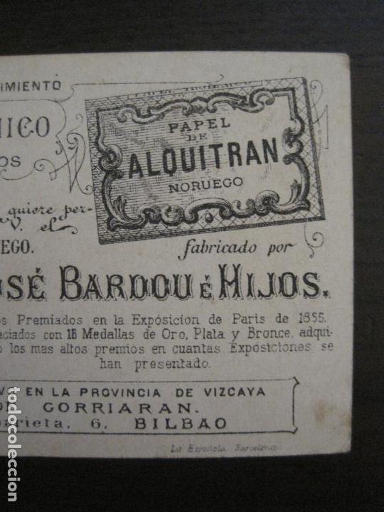 Papel de fumar: PAPEL ALQUITRAN NORUEGO CIGARRILLOS-JOSE BARDOU-CROMO ANTIGUO PAPEL DE FUMAR-VER FOTOS-(59.248) - Foto 4 - 163389938