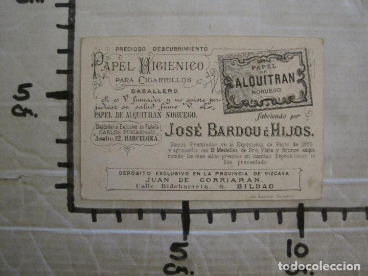 Papel de fumar: PAPEL ALQUITRAN NORUEGO CIGARRILLOS-JOSE BARDOU-CROMO ANTIGUO PAPEL DE FUMAR-VER FOTOS-(59.248) - Foto 6 - 163389938