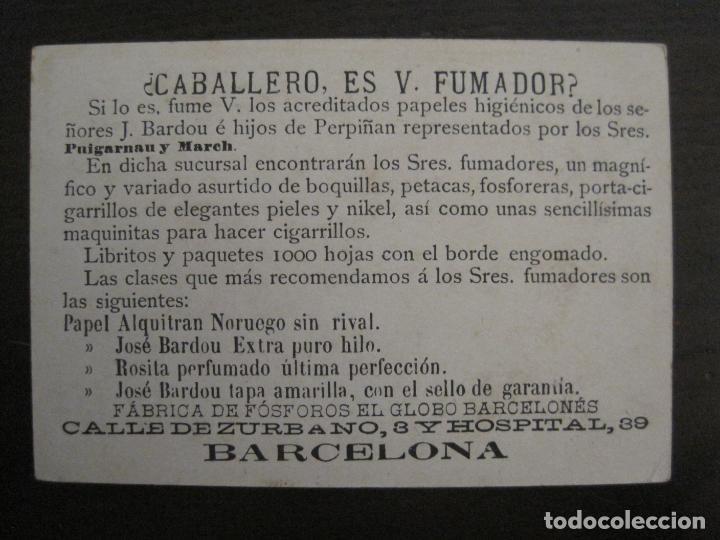 PAPEL ALQUITRAN NORUEGO-JOSE BARDOU HIJOS-BARCELONA-CROMO ANTIGUO PAPEL DE FUMAR-VER FOTOS-(59.250) (Coleccionismo - Objetos para Fumar - Papel de fumar )