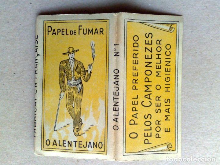 Papel de fumar: LIBRITO PAPEL DE FUMAR,O ALENTEJANO Nº1,FABR. EXCLUSIVO A.SEARA,POR ESTRENAR (DESCRIPCIÓN) - Foto 4 - 165924418
