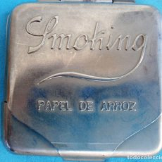 Papel de fumar: CAJA CAJITA PUBLICIDAD PARA PAPEL DE FUMAR SMOCHING , ANTIGUA , ORIGINAL , C4. Lote 166553634