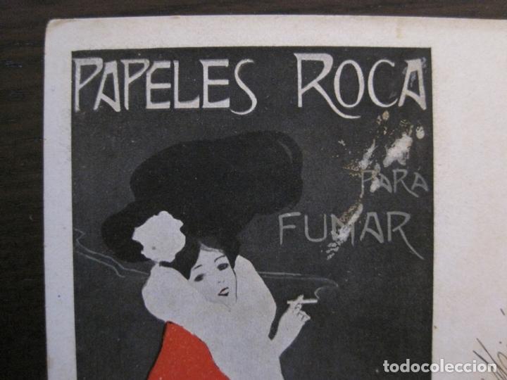 Papel de fumar: PAPEL DE FUMAR ROCA-POSTAL PUBLICITARIA MODERNISTA-VER FOTOS-(59.905) - Foto 2 - 166815362