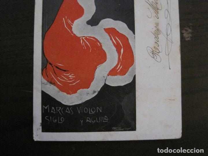 Papel de fumar: PAPEL DE FUMAR ROCA-POSTAL PUBLICITARIA MODERNISTA-VER FOTOS-(59.905) - Foto 5 - 166815362