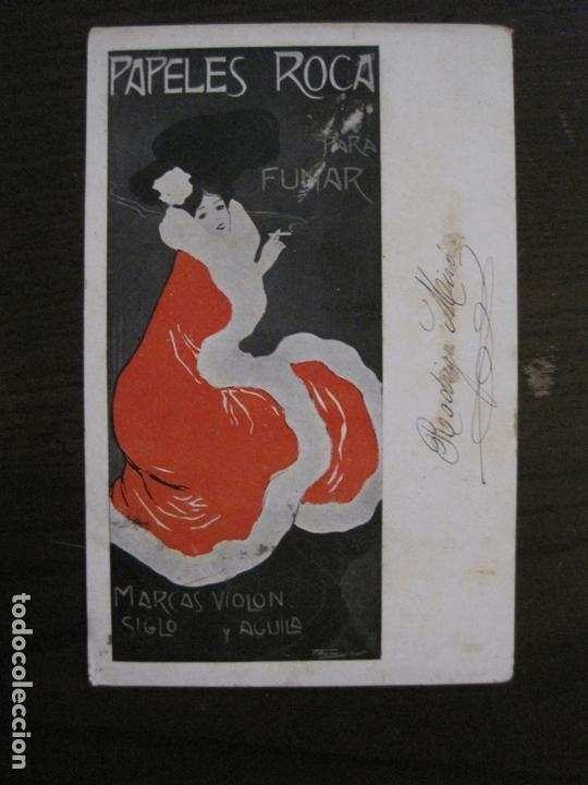 Papel de fumar: PAPEL DE FUMAR ROCA-POSTAL PUBLICITARIA MODERNISTA-VER FOTOS-(59.905) - Foto 6 - 166815362