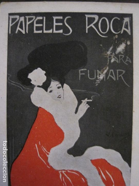 Papel de fumar: PAPEL DE FUMAR ROCA-POSTAL PUBLICITARIA MODERNISTA-VER FOTOS-(59.905) - Foto 7 - 166815362
