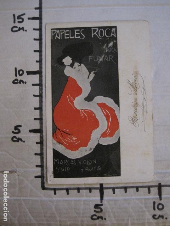 Papel de fumar: PAPEL DE FUMAR ROCA-POSTAL PUBLICITARIA MODERNISTA-VER FOTOS-(59.905) - Foto 10 - 166815362