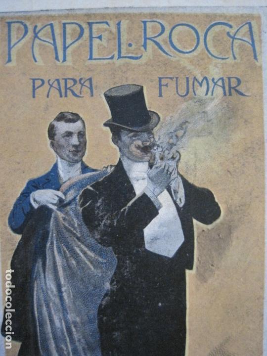 Papel de fumar: PAPEL DE FUMAR ROCA-POSTAL PUBLICITARIA MODERNISTA-REVERSO SIN DIVIDIR-VER FOTOS-(59.906) - Foto 4 - 166815638