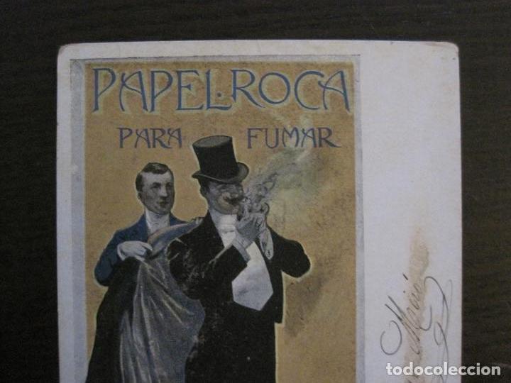 Papel de fumar: PAPEL DE FUMAR ROCA-POSTAL PUBLICITARIA MODERNISTA-REVERSO SIN DIVIDIR-VER FOTOS-(59.906) - Foto 7 - 166815638