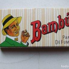 Papel de fumar: PAPEL DE FUMAR BAMBU ESTUCHE 200 AÑOS 90. Lote 168026292