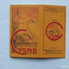 Papel para cigarros: ANTIGUO PAPEL DE FUMAR CYSNE Nº 172 L. LACROIX FILS FRANCIA PORTUGAL. Lote 168027688
