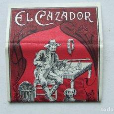Papel de fumar: ANTIGUO PAPEL DE FUMAR EL CAZADOR ROJO MIGUEL BOTELLA ALCOY. Lote 168028064