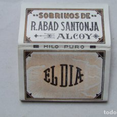 Papel de fumar: ANTIGUO PAPEL DE FUMAR EL DIA SOBRINOS DE ABAD SANTONJA ALCOY. Lote 168028428