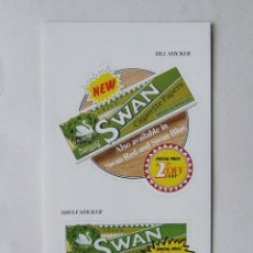 Papel de fumar: PEGATINA PUBLICITARIA PAPEL DE FUMAR SWAN. Lote 168032120