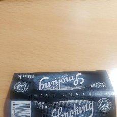 Papel de fumar: PAPEL FUMAR SMOKING BLACK ( MADE IN ARGENTINA ). Lote 171332117