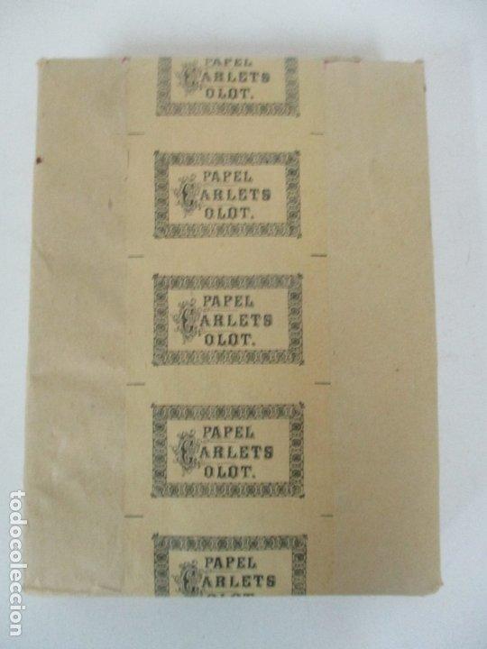 Papel de fumar: Caja Completa de 100 Carteras de Papel de Fumar +1- Papel Carlets, Olot - Original -Nuevo a Estrenar - Foto 5 - 172299363