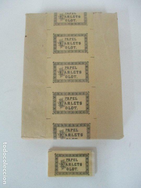 Papel de fumar: Caja Completa de 100 Carteras de Papel de Fumar +1- Papel Carlets, Olot - Original -Nuevo a Estrenar - Foto 8 - 172299363