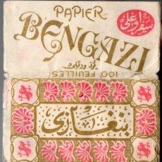 Papel de fumar: PAPEL DE FUMAR - PAPIER BENGAZI. FULL PACKET. Lote 172852954