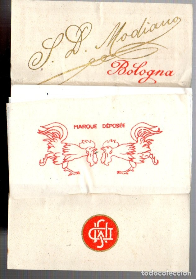 Papel de fumar: Papel de Fumar, Deux Coqs, Old, Full Packet. - Foto 2 - 173084710