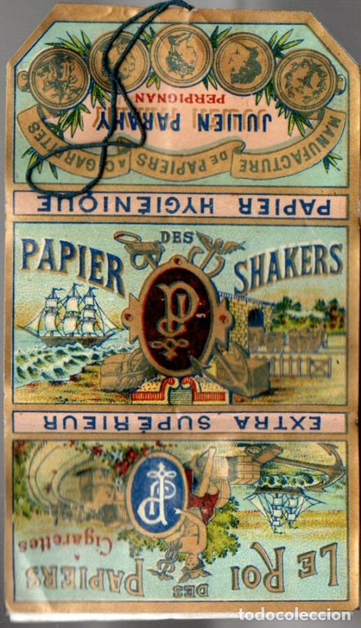 PAPEL DE FUMAR PAPIER DES SHAKERS NO 5, OLD, FULL PACKET (Coleccionismo - Objetos para Fumar - Papel de fumar )