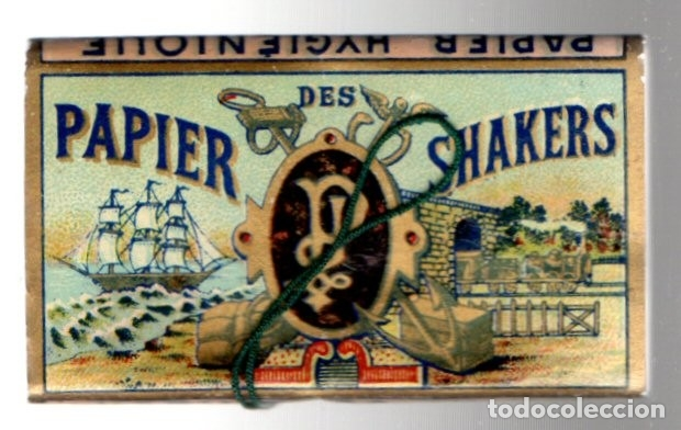 Papel de fumar: Papel de Fumar Papier des Shakers No 5, Old, Full Packet - Foto 4 - 173916695