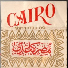 Papel de fumar: SMOKING PAPER CAIRO, OLD, COVER ONLY. Lote 173931493