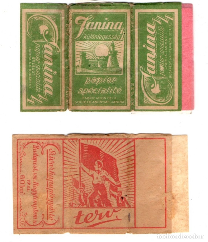 PAPEL DE FUMAR; TERV AND JANINA, OLD, FULL PACKETS (Coleccionismo - Objetos para Fumar - Papel de fumar )