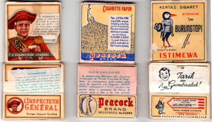 PAPEL DE FUMAR X 3 OLD INDONESIA FULL PACKETS (Coleccionismo - Objetos para Fumar - Papel de fumar )