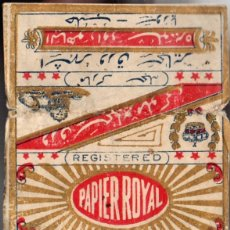 Papel de fumar: PAPEL DE FUMAR, SMOKING PAPER PAPIER ROYAL, OLD, FULL PACKET.. Lote 175289342