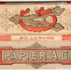 Papel de fumar: PAPEL DE FUMAR, SMOKING PAPER PAPIER A. G. FULL PACKET. Lote 175764767