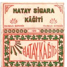Papel de fumar: PAPEL DE FUMAR, SMOKING PAPER;HATAY KAGITI; OLD, COVER ONLY . Lote 176393402