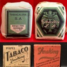 Papel de fumar: LOTE 4 ANTIGUOS LIBRILLOS DE PAPEL DE FUMAR Y TABACO PICADURA SIN USO. Lote 176513345