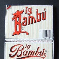 Papel de fumar: PAPEL DE FUMAR BIG BAMBU ALCOY PUBLICIDAD CAMISETA . Lote 176532547