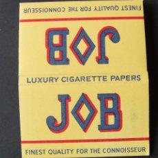 Papel de fumar: PAPEL DE FUMAR JOB DOBLE LUXURY PACK INTERIOR AMARILLO. Lote 176533854
