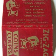 Papel para cigarros: PAPEL DE FUMAR ZIG-ZAG Nº 149 CC COINS COUPES ROJO DOBLE. Lote 176541734
