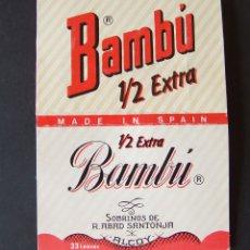 Papel de fumar: PAPEL DE FUMAR BAMBU 1/2 EXTRA . Lote 176545628